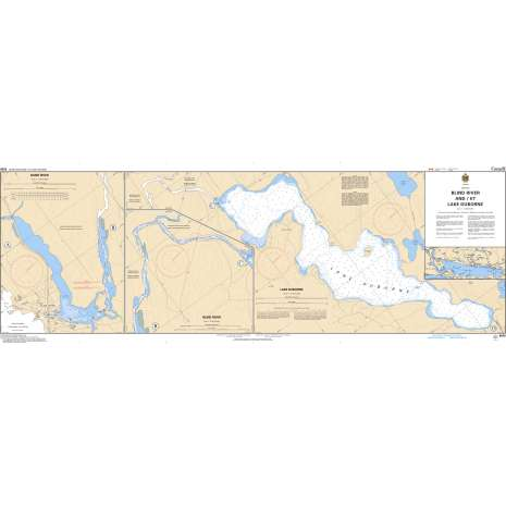 Central and Arctic Region Charts :CHS Chart 6028: Blind River and/et Lake Duborne