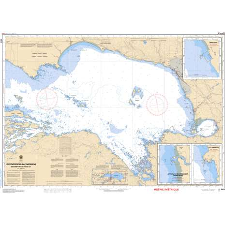 Central and Arctic Region Charts :CHS Chart 6035: Lake Nipissing / Lac Nipissing(Eastern Portion / Partie est)