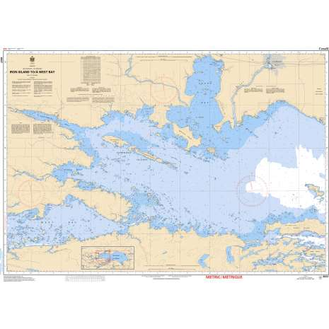 Central and Arctic Region Charts :CHS Chart 6037: Iron Island to/à West Bay