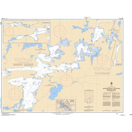 Central and Arctic Region Charts :CHS Chart 6110: Redgut Bay