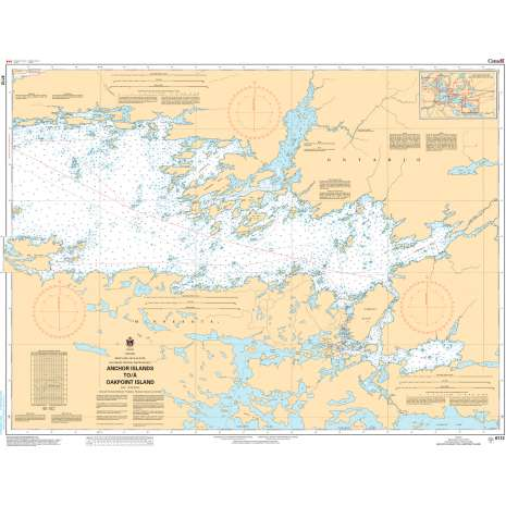 Central and Arctic Region Charts :CHS Chart 6212: Kenora to/à Aulneau Peninsula (Northern Portion / Partie nord)