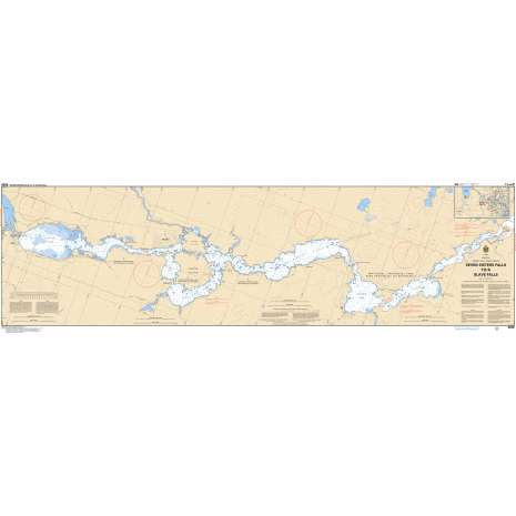Central and Arctic Region Charts :CHS Chart 6206: Seven Sisters Falls to/à Slave Falls