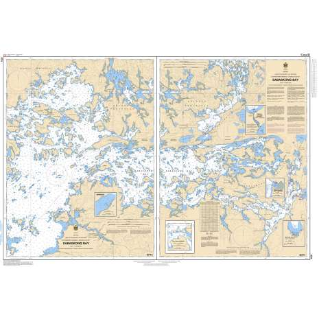Central and Arctic Region Charts :CHS Chart 6214: Sabaskong Bay