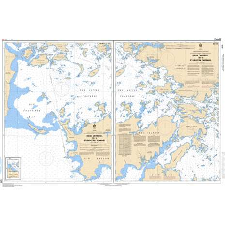 Central and Arctic Region Charts :CHS Chart 6215: Basil Channel to/à Sturgeon Channel