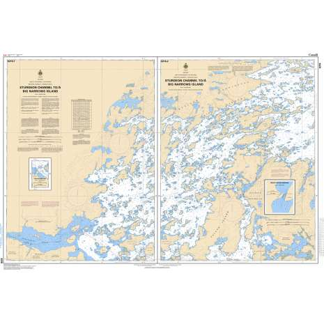 Central and Arctic Region Charts :CHS Chart 6216: Sturgeon Channel to/à Big Narrows Island
