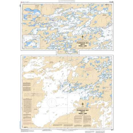 Central and Arctic Region Charts :CHS Chart 6217: Ptarmigan Bay and/et Shoal Lake