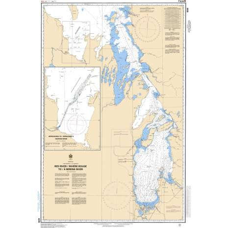 Central and Arctic Region Charts :CHS Chart 6240: Red River / Rivière Rouge to/à Berens River