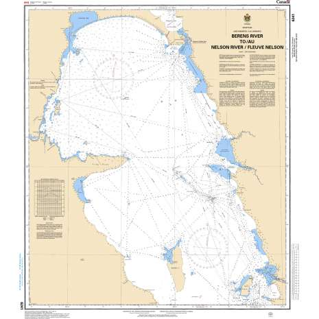 Central and Arctic Region Charts :CHS Chart 6241: Berens River to/à Nelson River