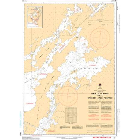 Central and Arctic Region Charts :CHS Chart 6247: Wightman Point to/à Whiskey Jack Portage