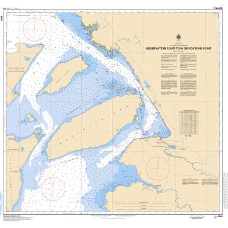 Central and Arctic Region Charts :CHS Chart 6248: Observation Point to/à Grindstone Point
