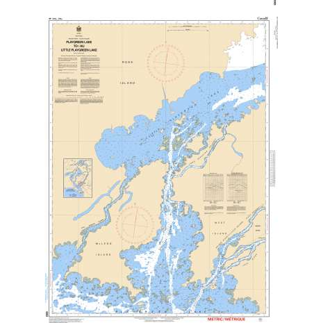 Central and Arctic Region Charts :CHS Chart 6263: Playgreen Lake to/au Little Playgreen Lake