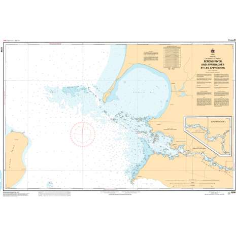 Central and Arctic Region Charts :CHS Chart 6268: Berens River and Approaches/et les Approches