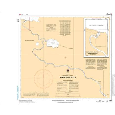 Central and Arctic Region Charts :CHS Chart 6269: Wanipigow River