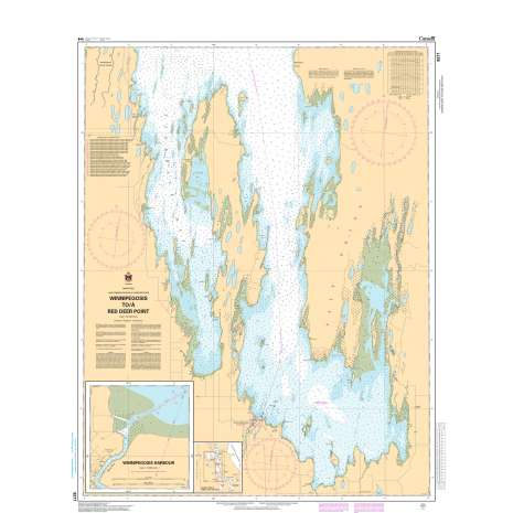 Central and Arctic Region Charts :CHS Chart 6271: Winnipegosis to/à Red Deer Point