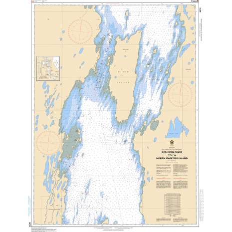 Central and Arctic Region Charts :CHS Chart 6272: Red Deer Point to/à North Manitou Island