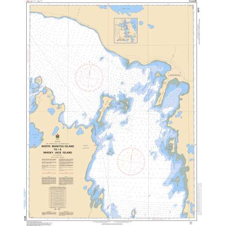 Central and Arctic Region Charts :CHS Chart 6273: North Manitou Island to/à Whiskey Jack Island