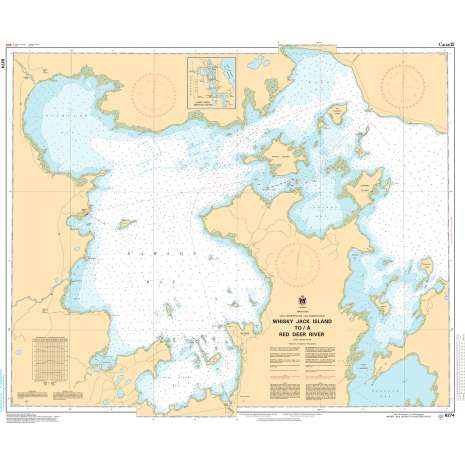 Central and Arctic Region Charts :CHS Chart 6274: Whiskey Jack Island to/à Red Deer River