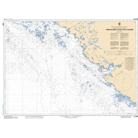 Central and Arctic Region Charts :CHS Chart 6368: Cabin Islands to/aux Pilot Islands