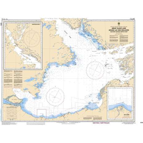 Central and Arctic Region Charts :CHS Chart 6370: Great Slave Lake / Grand lac des Esclaves, Western Portion / Partie ouest