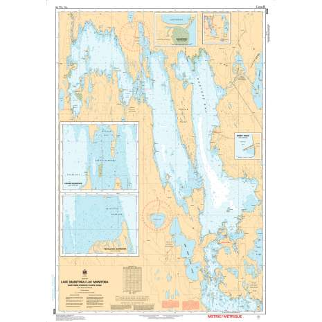Central and Arctic Region Charts :CHS Chart 6506: Lake Manitoba / Lac Manitoba (Northern Portion / Partie nord)