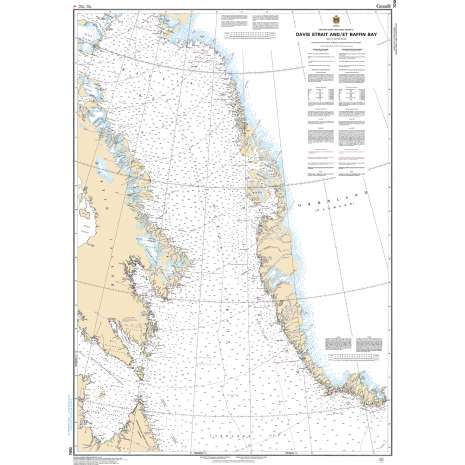 Central and Arctic Region Charts :CHS Chart 7010: Davis Strait and/et Baffin Bay