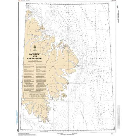 Central and Arctic Region Charts :CHS Chart 7052: Cape Mercy to Kangeeak Point