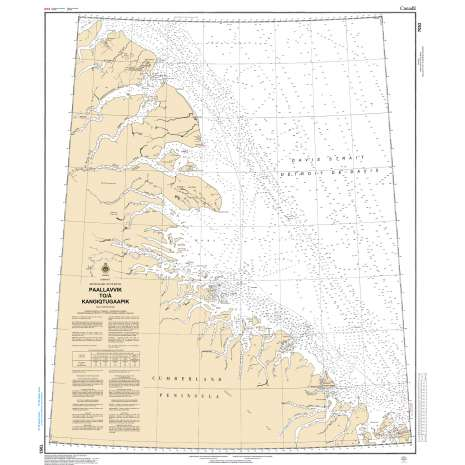Central and Arctic Region Charts :CHS Chart 7053: Padloping Island to Clyde Inlet