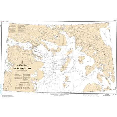 Central and Arctic Region Charts :CHS Chart 7067: Spicer Islands to West Entrance of Fury and Hecla Strait