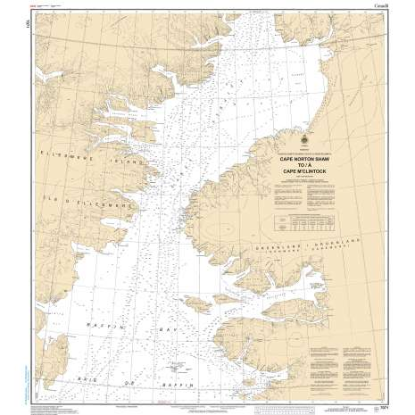 Central and Arctic Region Charts :CHS Chart 7071: Cape Norton Shaw to Cape M'Clintock