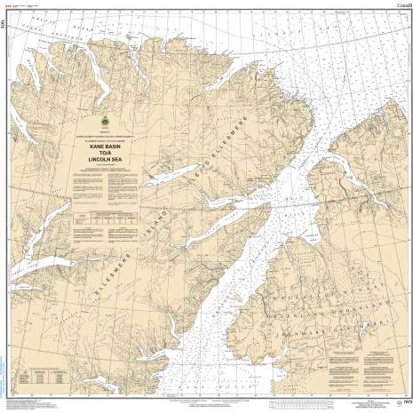 Central and Arctic Region Charts :CHS Chart 7072: Kane Basin to Lincoln Sea