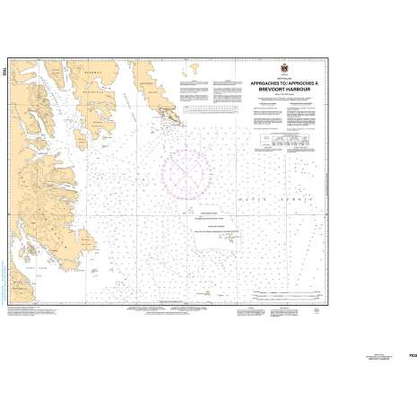 Central and Arctic Region Charts :CHS Chart 7103: Approaches to/Approches à Brevoort Harbour