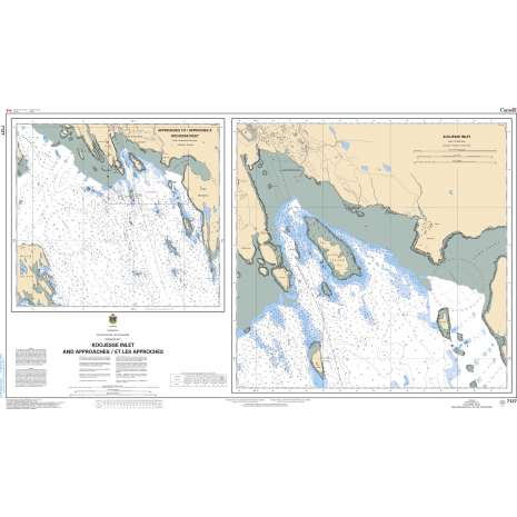 Central and Arctic Region Charts :CHS Chart 7127: Koojesse Inlet and Approaches/et les Approches