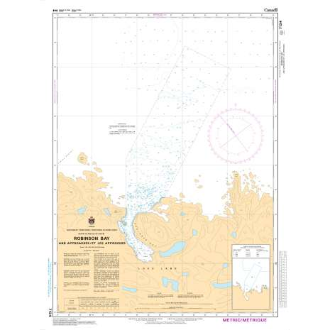 Central and Arctic Region Charts :CHS Chart 7134: Robinson Bay and Approaches/et les Approches