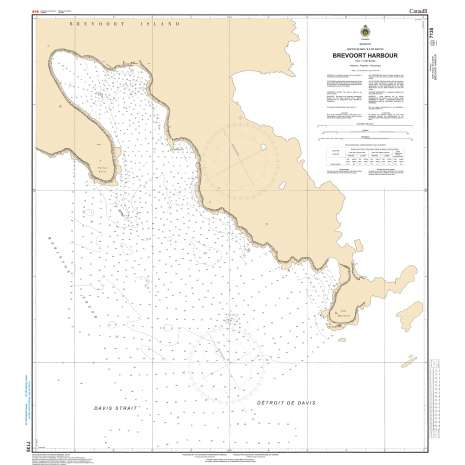 Central and Arctic Region Charts :CHS Chart 7135: Brevoort Harbour