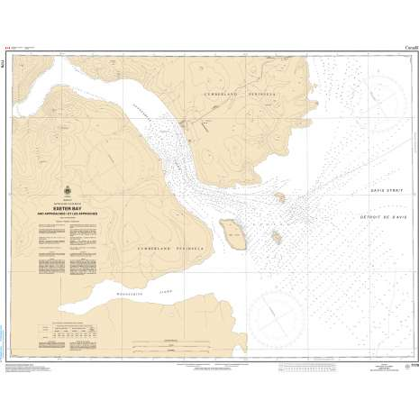 Central and Arctic Region Charts :CHS Chart 7170: Exeter Bay and Approaches/et les Approches