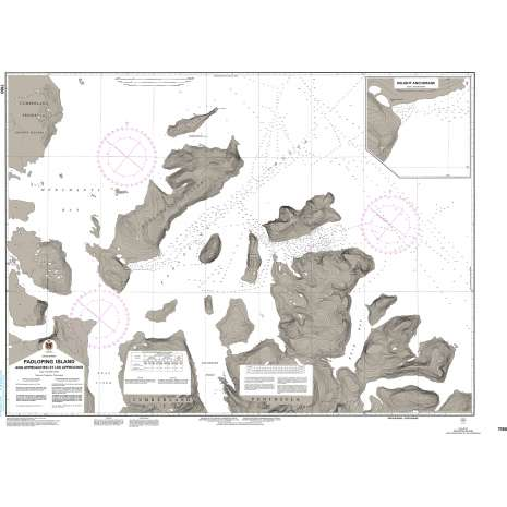 Central and Arctic Region Charts :CHS Chart 7180: Padloping Island and Approaches/ et les Approches