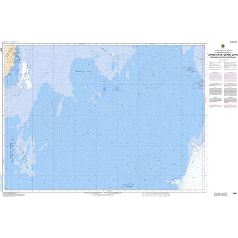Atlantic Region Charts :CHS Chart 8011: Grand Bank, Northern Portion/ Grand Banc, Partie Nord