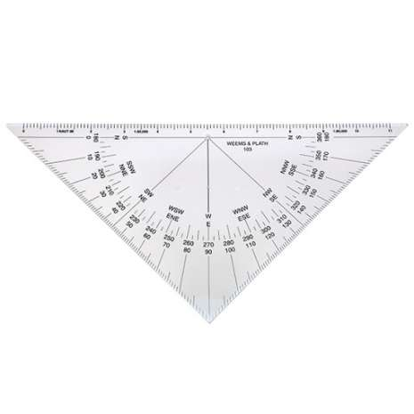 Navigation Tools :Protractor Triangle without Handle #103