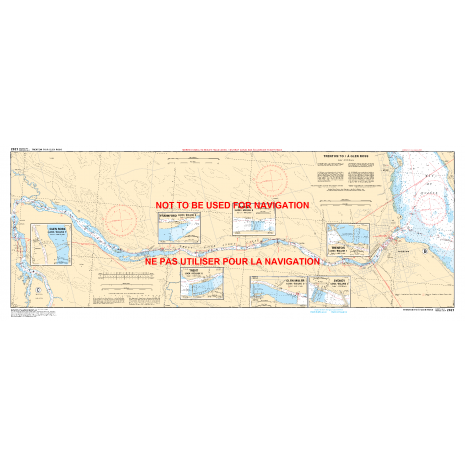 Central and Arctic Region Charts :CHS Chart 2021: Murray Canal to Healey Falls Locks / Murray Canal aux Écluses de Healey Falls