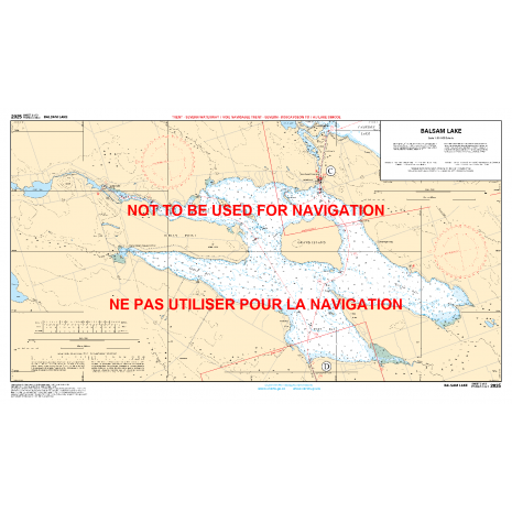 Central and Arctic Region Charts :CHS Chart 2025: Bobcaygeon to Lake Simcoe / Bobcaygeon au Lake Simcoe