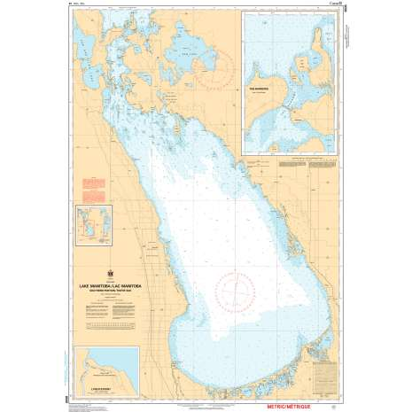 Central and Arctic Region Charts :CHS Chart 6505: Lake Manitoba / Lac Manitoba (Southern Portion / Partie sud)