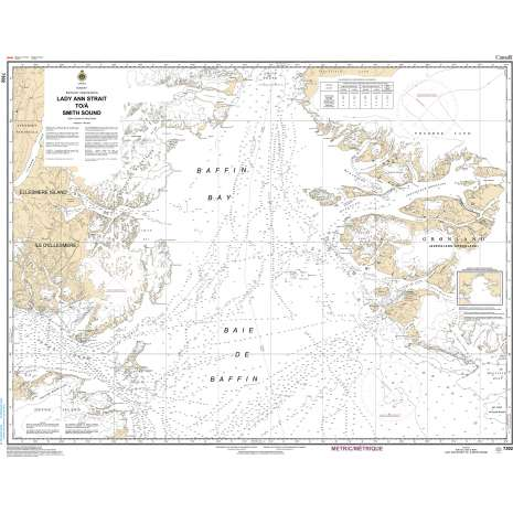 Central and Arctic Region Charts :CHS Chart 7302: Lady Ann Strait to Smith Sound