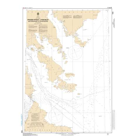 Central and Arctic Region Charts :CHS Chart 7404: Frozen Strait, Lyon Inlet and Approaches