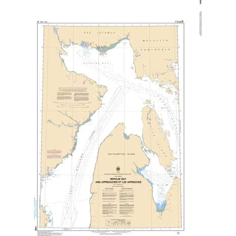 Central and Arctic Region Charts :CHS Chart 7405: Repulse Bay and Approaches/ Et Les Approches