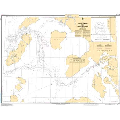 Central and Arctic Region Charts :CHS Chart 7411: Spicer Islands to Longstaff Bluff