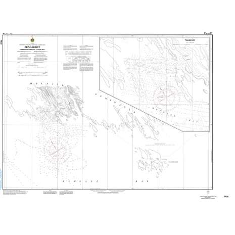 Central and Arctic Region Charts :CHS Chart 7430: Repulse Bay Harbours Islands to/à Talun Bay