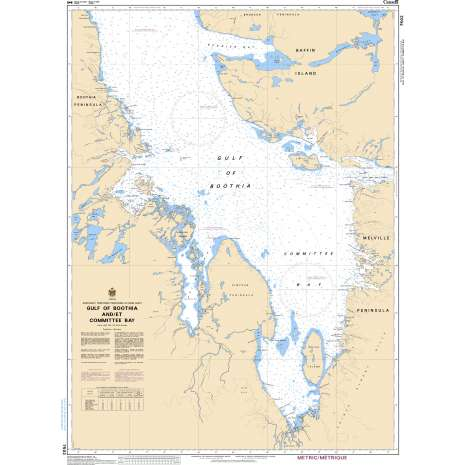 Central and Arctic Region Charts :CHS Chart 7502: Gulf of Boothia and/et Committee Bay