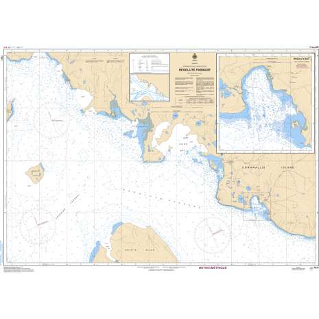 Central and Arctic Region Charts :CHS Chart 7511: Resolute Passage