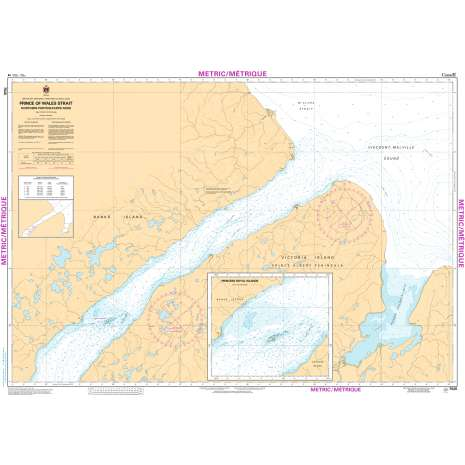 Central and Arctic Region Charts :CHS Chart 7520: Prince of Wales Strait, Northern Portion/ Partie Nord