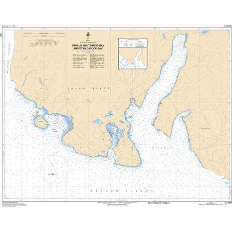 Central and Arctic Region Charts :CHS Chart 7527: Erebus Bay and/et Radstock Bay